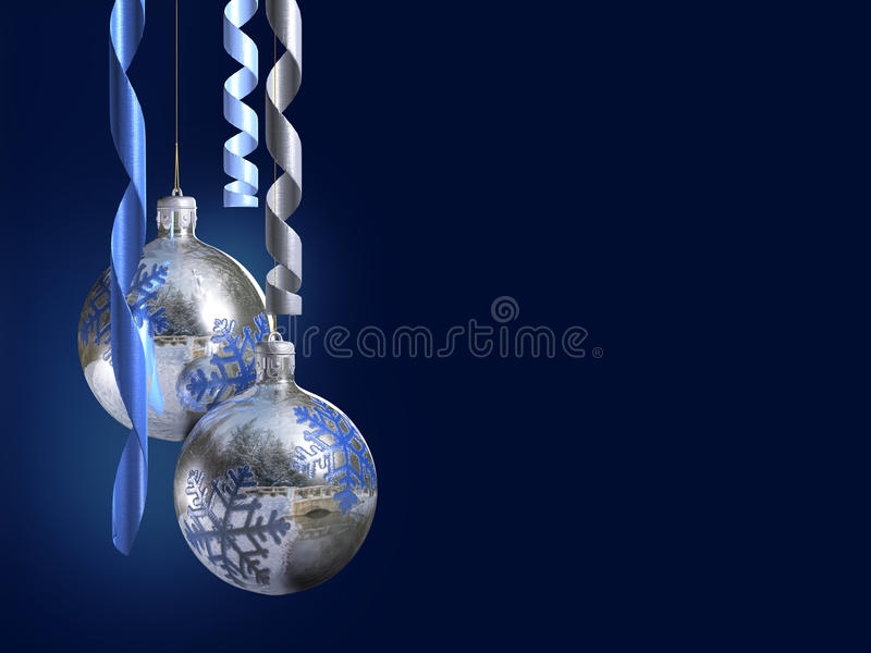 Elegant christmas decor with shiny baubles. High res hq render with alpha channel for the baubles vector illustration