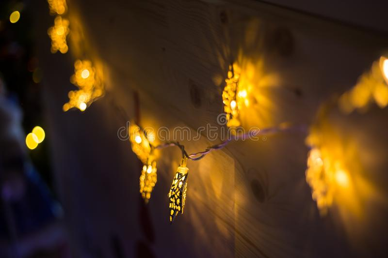 Elegant Christmas garlands. Holiday, celebration and new year concept stock image