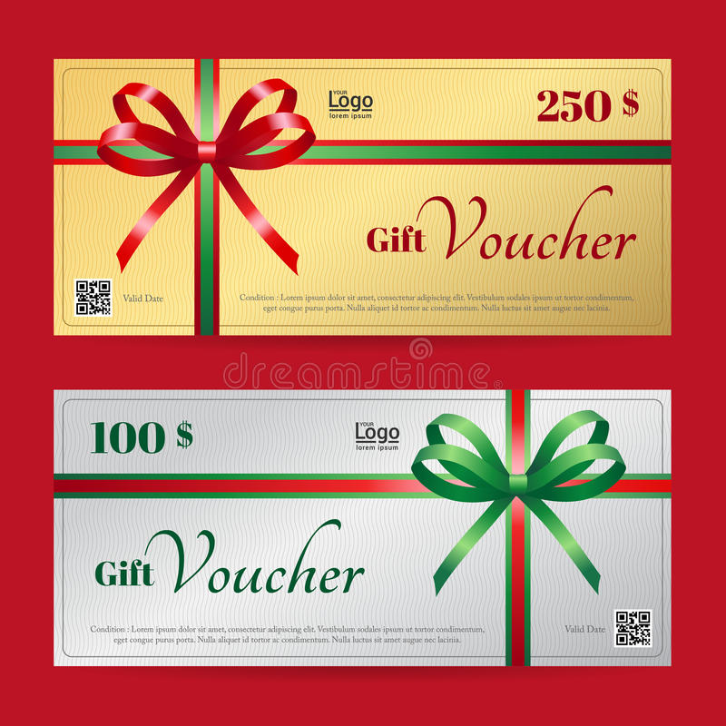 Download Elegant Christmas Gift Voucher Or Gift Card Template Stock Vector    Illustration Of Complimentary,  Christmas Gift Card Template