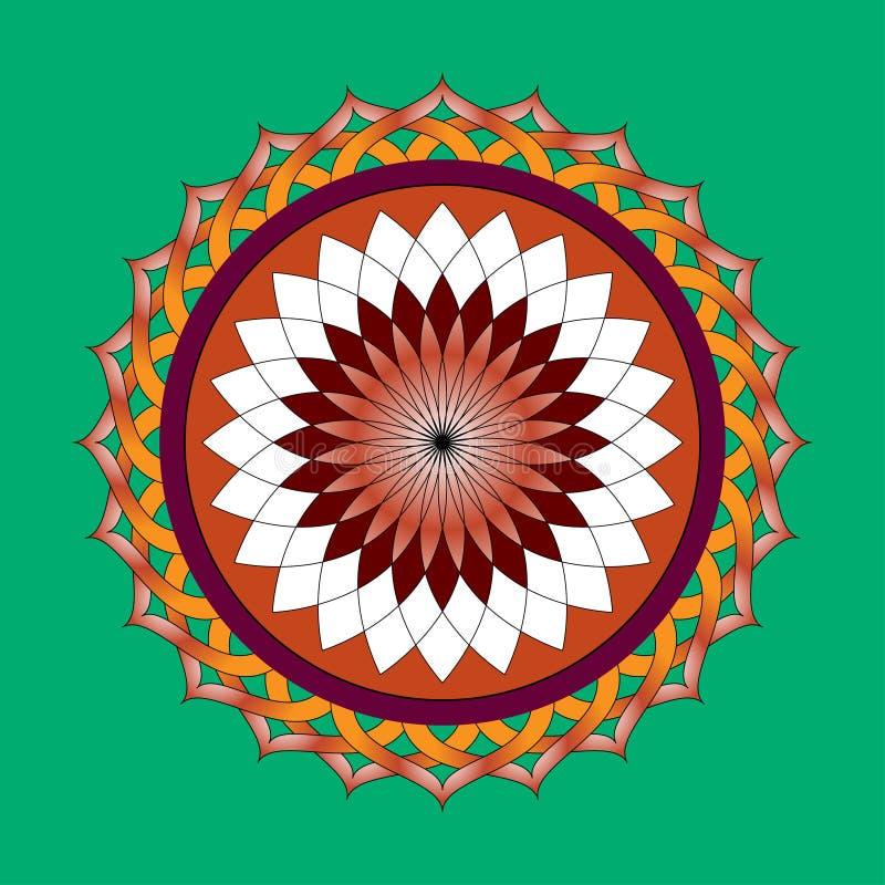 Elegant circular pattern stock images