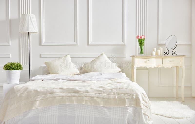 Elegant classic bedroom royalty free stock photos