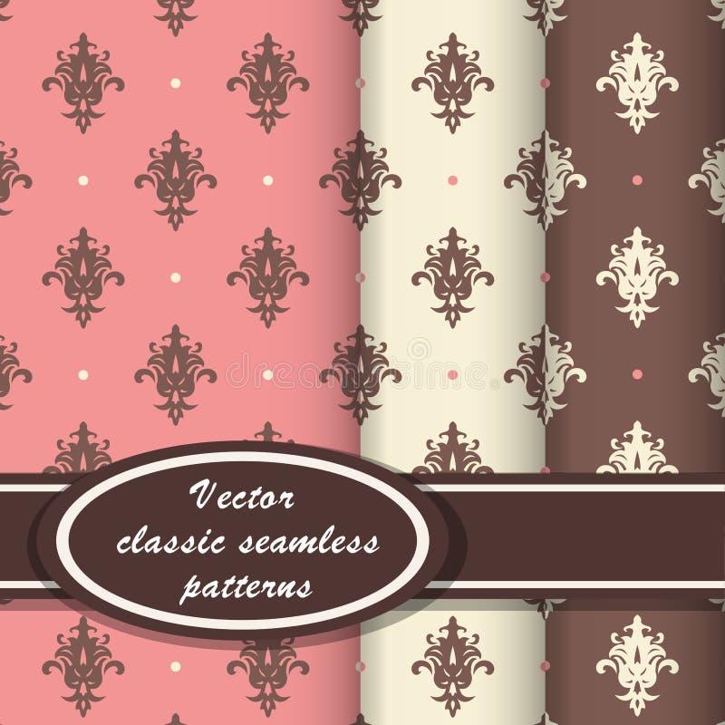 Elegant classic patterns royalty free illustration