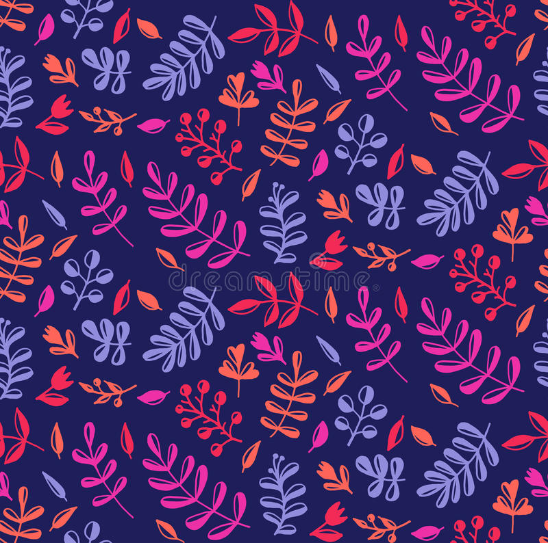 Elegant colorful natural floral seamless vecor pattern vector illustration