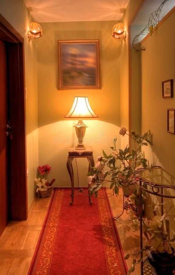 Elegant corridor. Hotel corridor with neat decorations stock images
