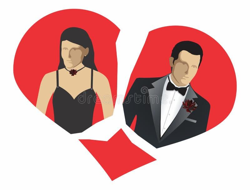 Download Elegant couple break apart stock vector. Illustration of love - 16174313