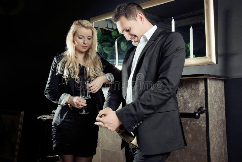 Elegant couple celebration royalty free stock photography