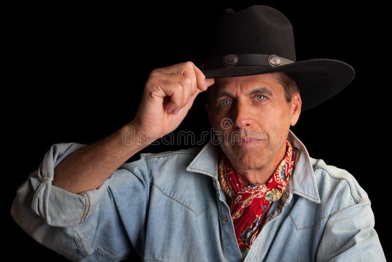 Elegant Cowboy stock photography