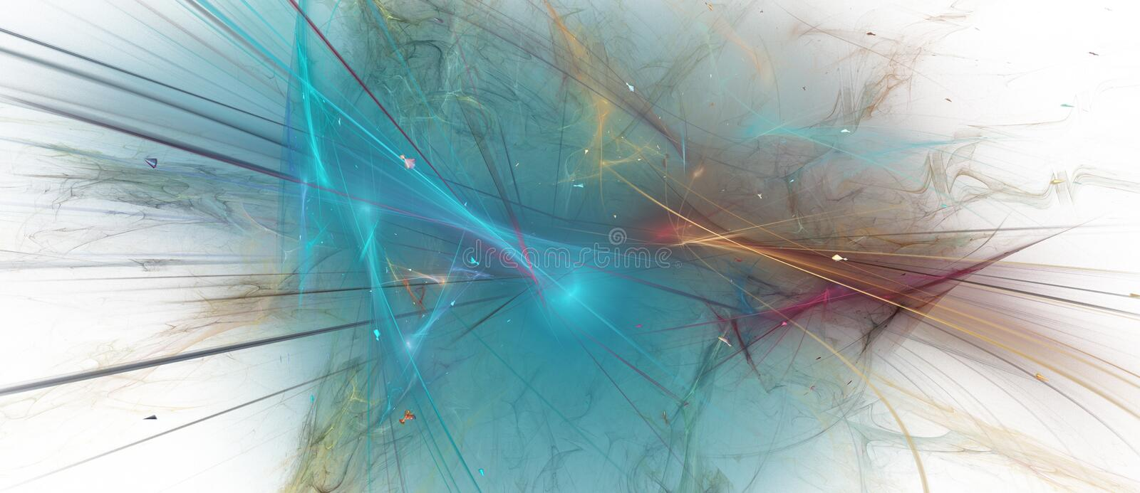 Elegant cyan fractal background royalty free stock photography