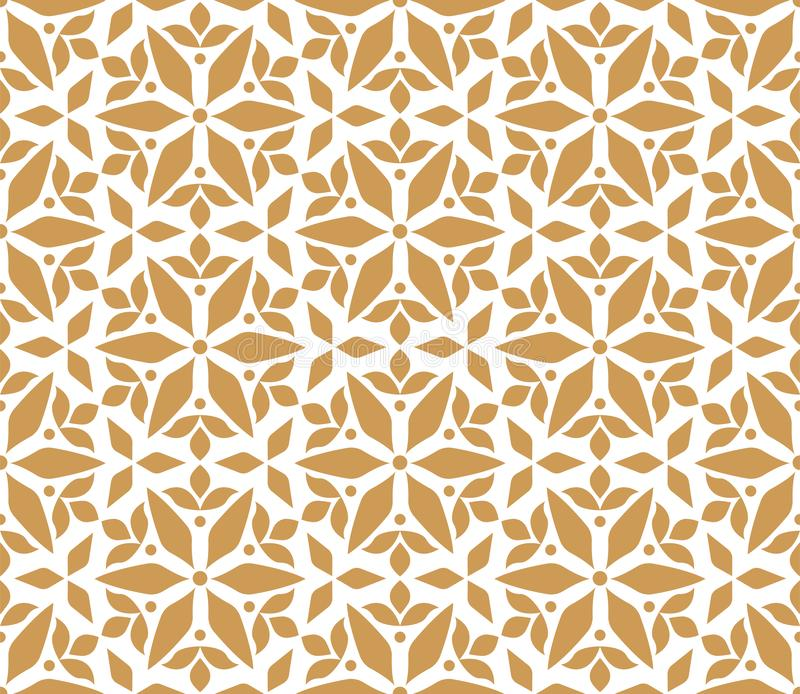 Elegant Damask Floral Vector Seamless Pattern. Decorative Flower Illustration. Abstract Art Deco Background. Vector Floral Ornamental Seamless Pattern royalty free illustration