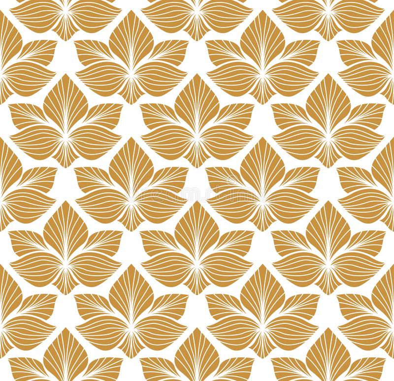 Seamless Arabesque Floral Pattern. Art Deco Style Background. Vector Abstract Flower Texture. royalty free illustration