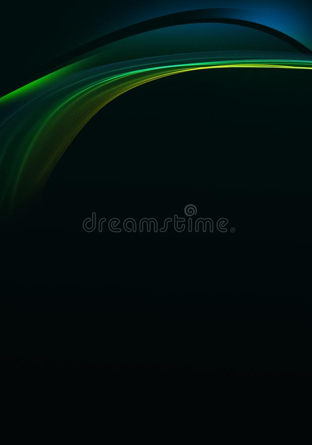 Elegant dark green abstract background design with space for your text stock illustration