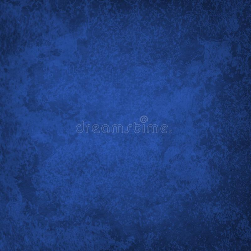 Elegant dark sapphire blue background with old vintage marbled texture and grunge royalty free stock photos