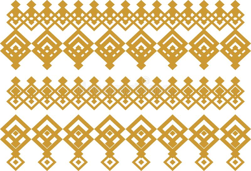 Elegant decorative border made up of square golden and white 15 stock photo