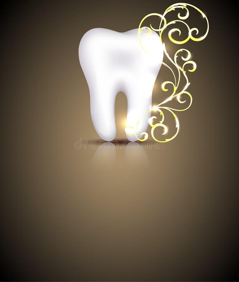 Elegant dental design stock illustration