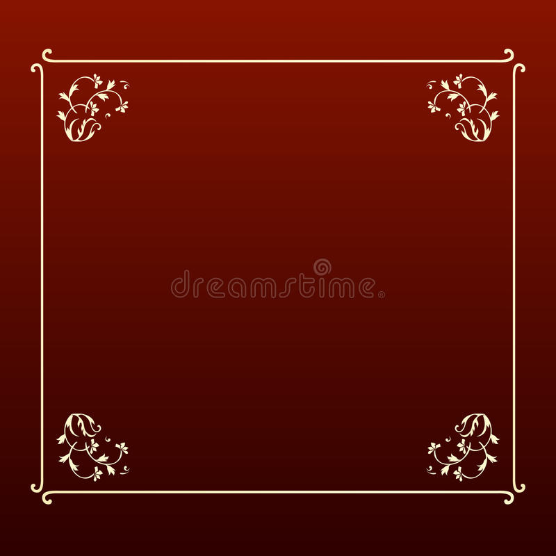 Elegant design ecru square frame stock images