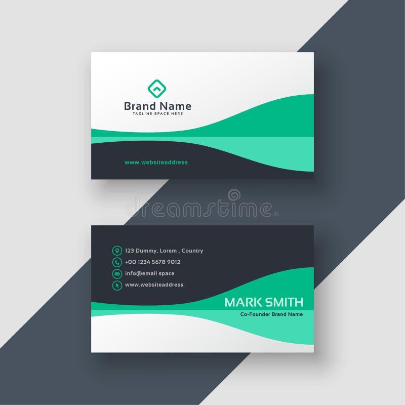 Elegant design för kontorsaffärskort stock illustrationer