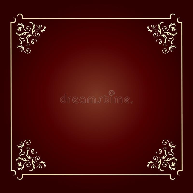 Elegant design square frame royalty free stock image
