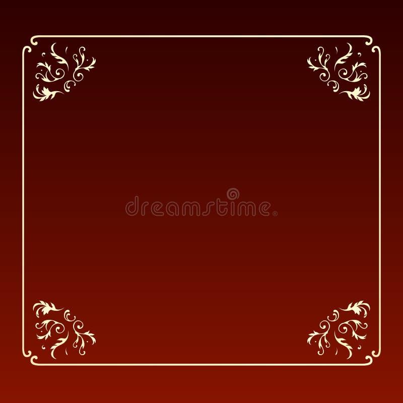 Elegant design square frame stock image