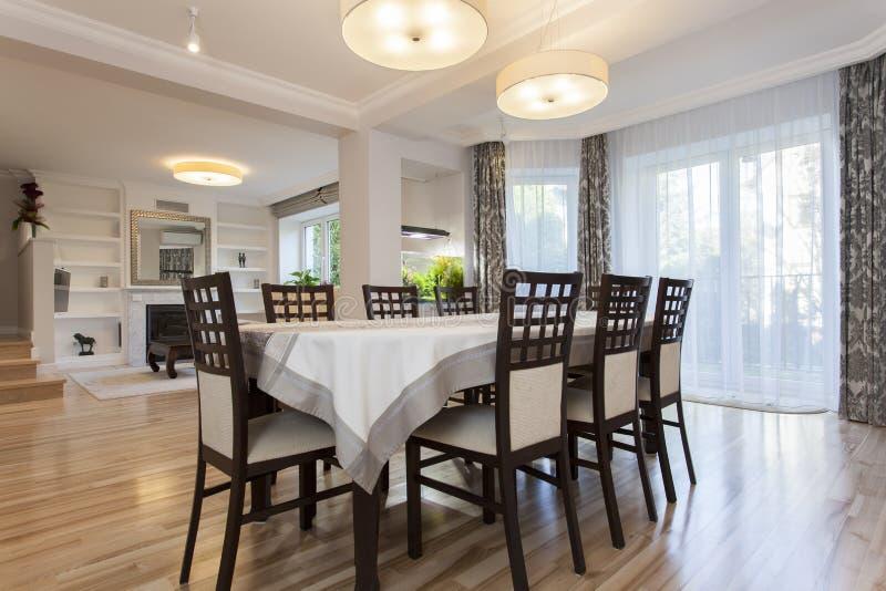 Elegant dining room stock photography