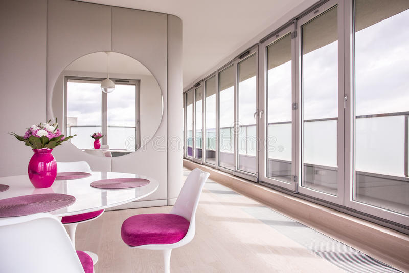 Elegant dining room royalty free stock photo
