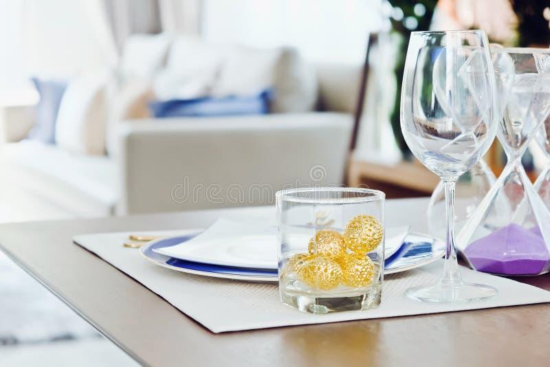 Elegant dining table royalty free stock photos