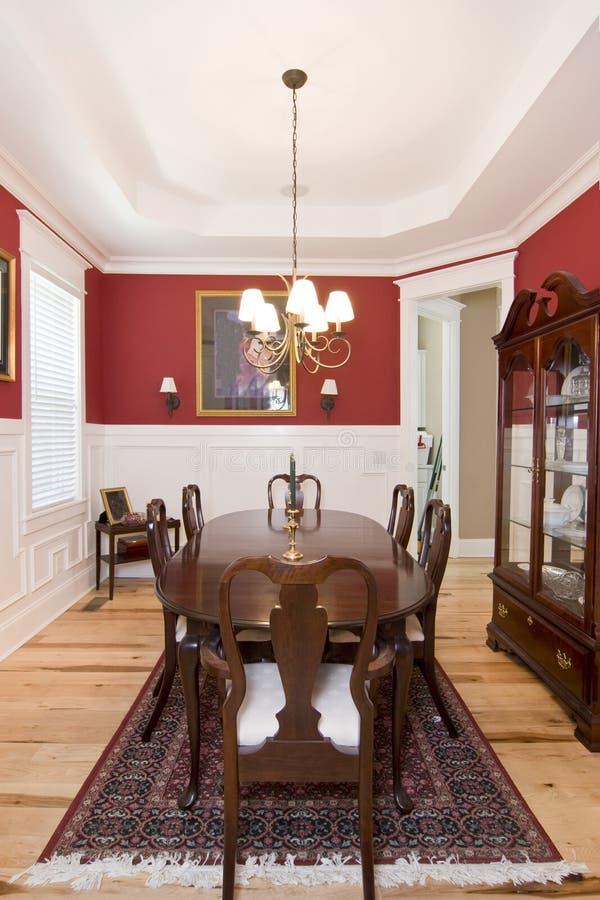 elegant diningroom fotografering för bildbyråer