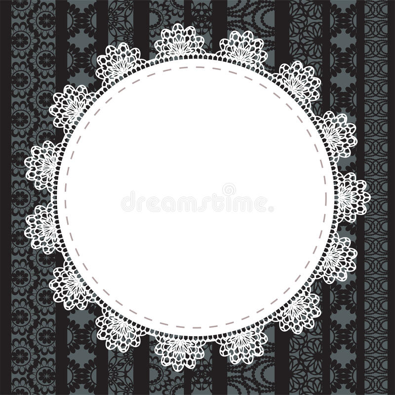Download Elegant Doily On Lace Gentle Background Stock Vector - Image: 27588471