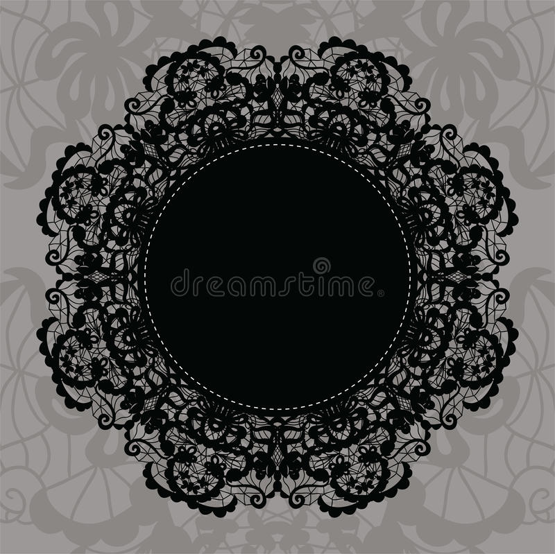 Download Elegant Doily On Lace Gentle Background Stock Vector - Image: 28667311