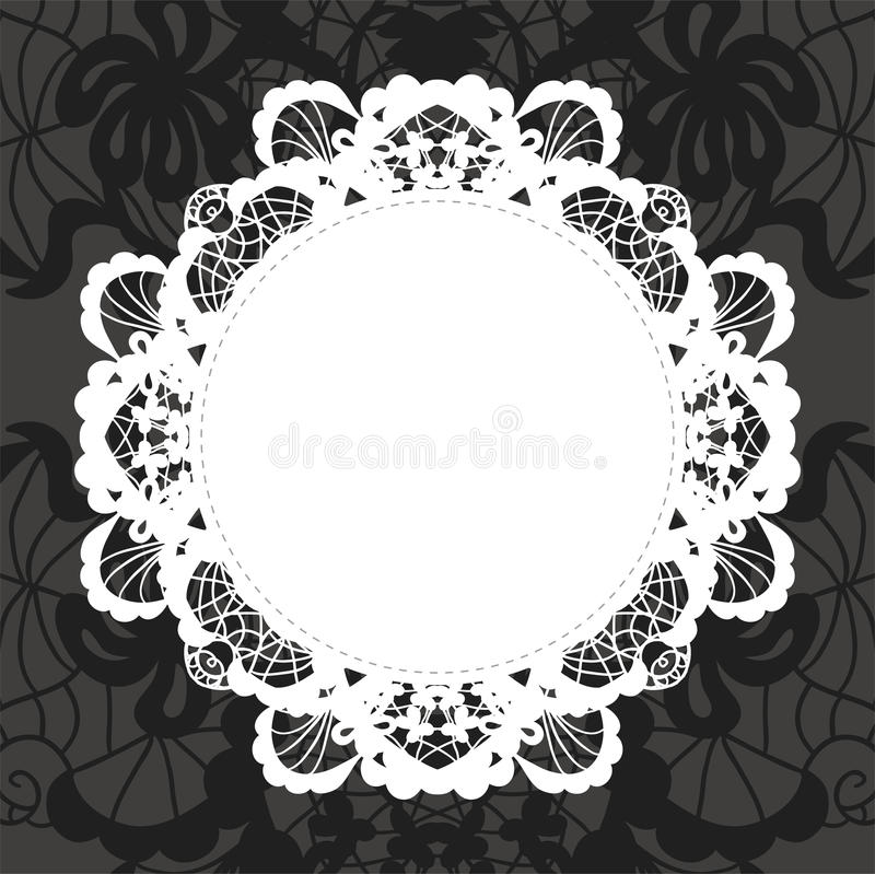 Elegant Doily On Lace Gentle Background Royalty Free Stock Photos