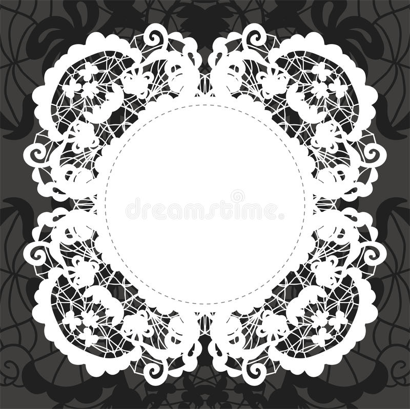 Download Elegant Doily On Lace Gentle Background Stock Vector - Image: 28699365