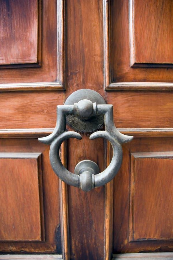 Elegant door and door knocker stock image