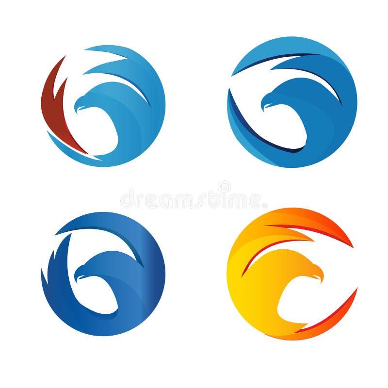 Elegant eagle logo concept stock photography