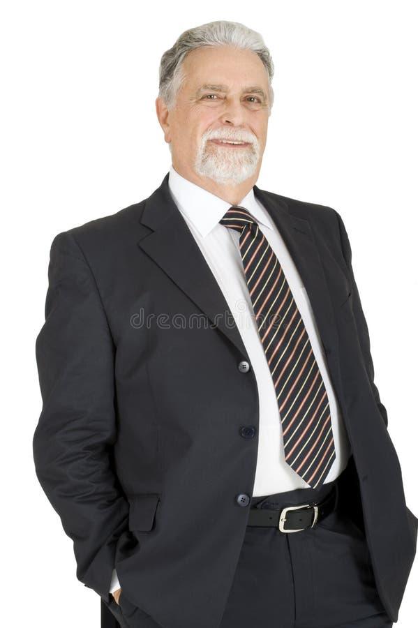 Elegant elderly man stock images
