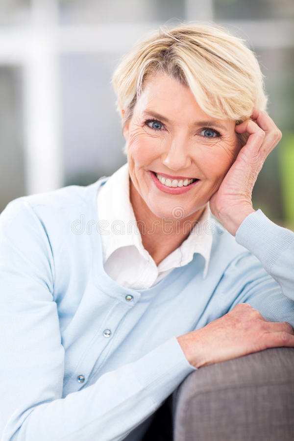 Elegant elderly woman royalty free stock photography