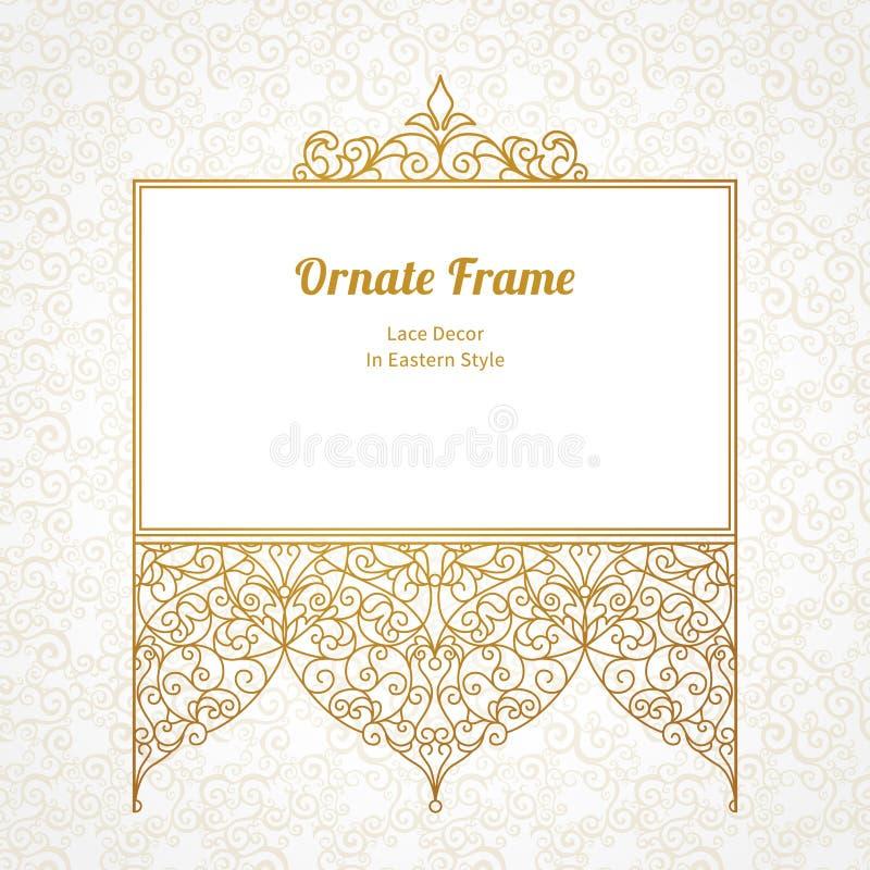 Elegant element voor ontwerp in Oostelijke stijl royalty-vrije illustratie