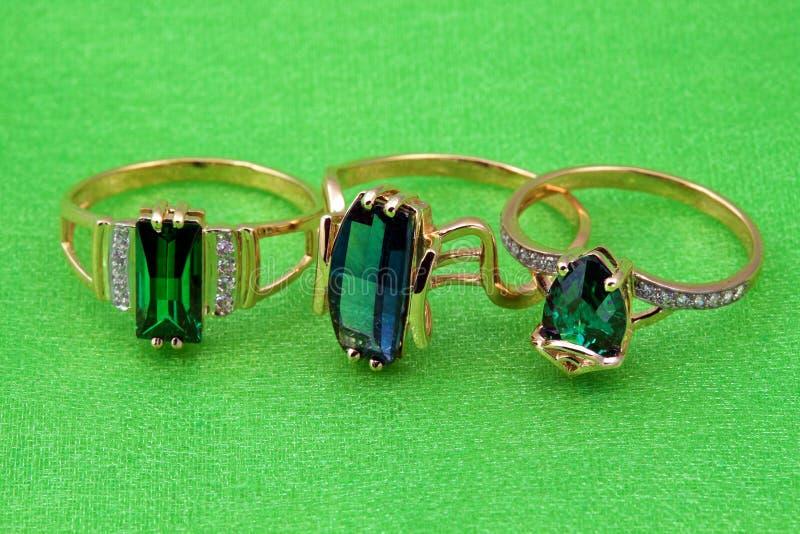 Elegant emerald jewelry. Elegant jewelry ring with jewel stone emerald royalty free stock photography