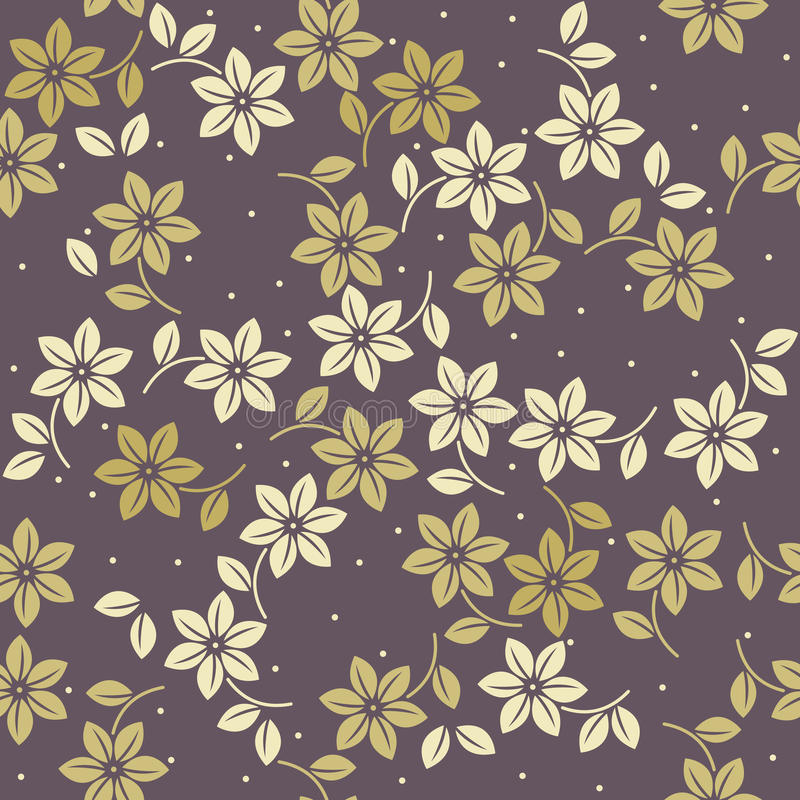 Elegant endless pattern with decorative flowers and leaves. Can be used for wallpaper, linen, tile, design fabric and more creative designs stock illustration