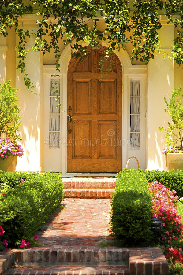 Elegant entrance stock photos