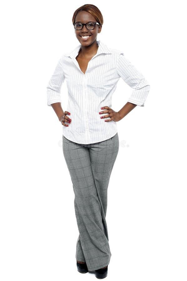 Elegant entrepreneur posing stock images
