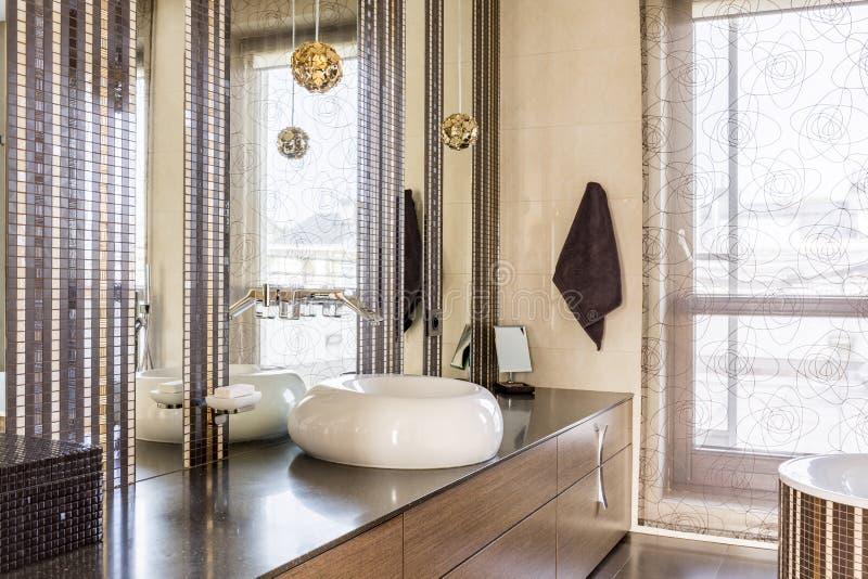 Elegant fancy bathroom stock images