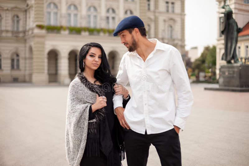 Elegant fashion couple stock image