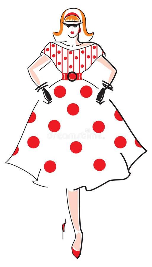 Download Elegant  fashion woman stock vector. Illustration of family - 15639976