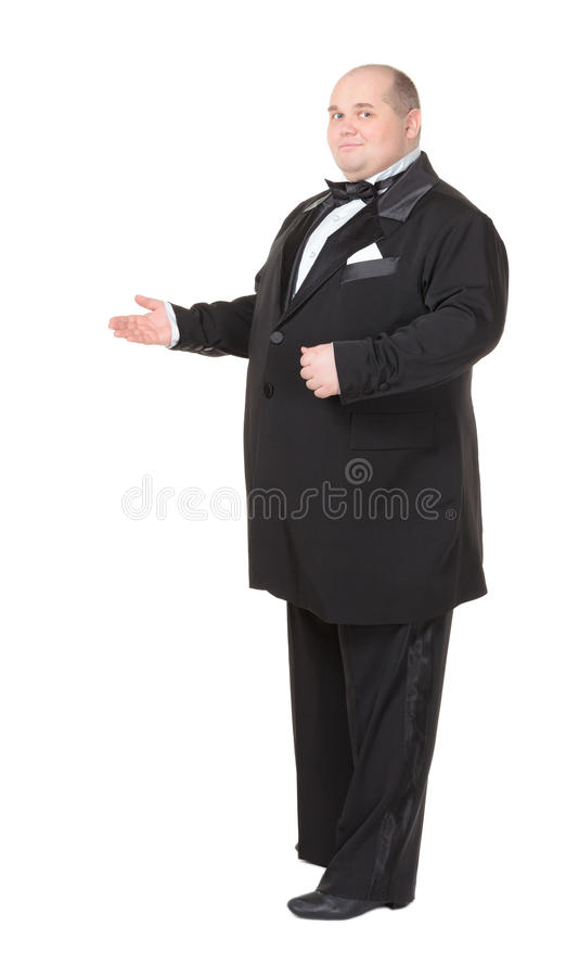 Download Elegant Fat Man In A Bow Tie Pointing Stock Photo - Image: 28961756