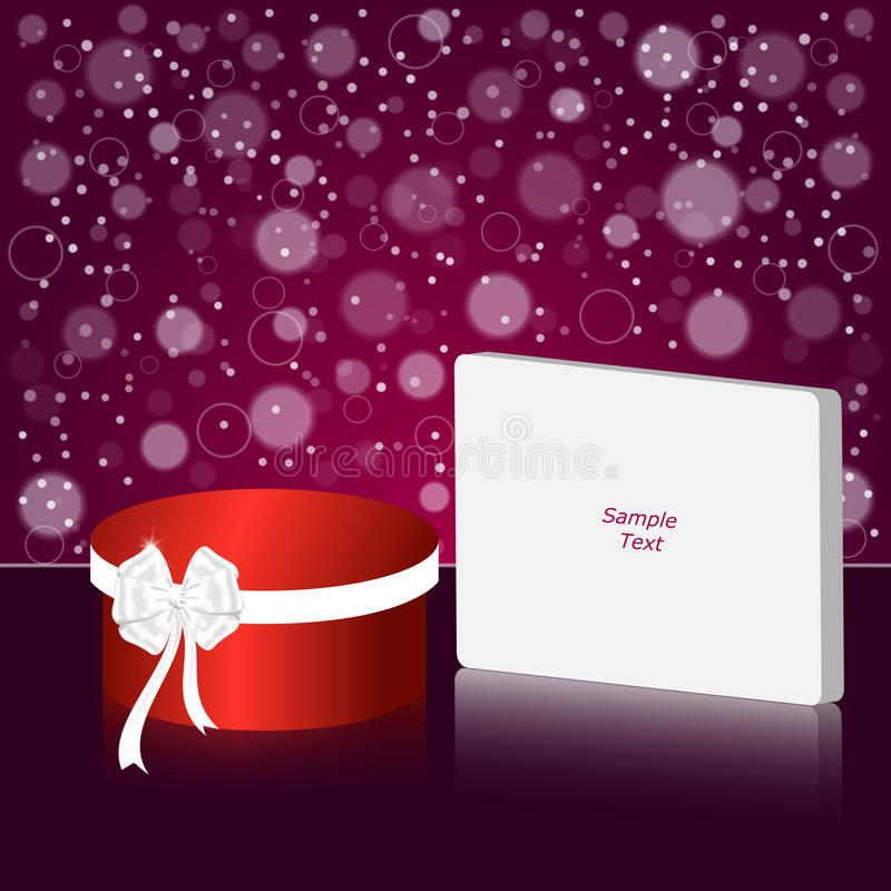 Elegant festive red background with a red frame and a sign under the text. royalty free illustration