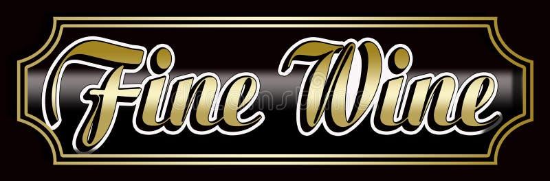 Elegant Fine Wine Banner. Fine Wine sign label Elegant frame vector illustration