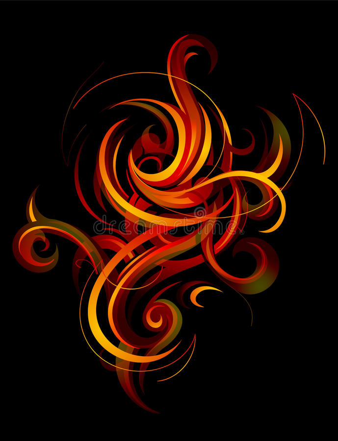 Elegant fire flames vector illustration