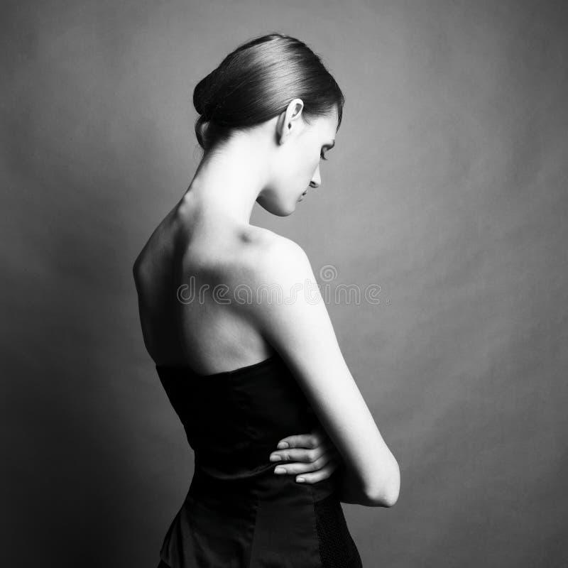 elegant flicka fotografering för bildbyråer