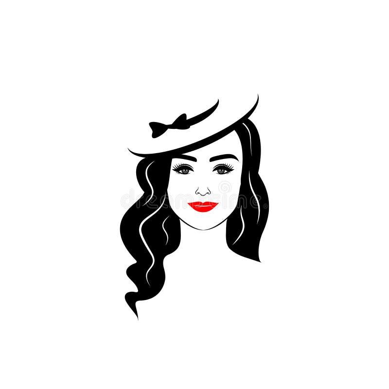 Elegant flicka i en hatt arkivfoto