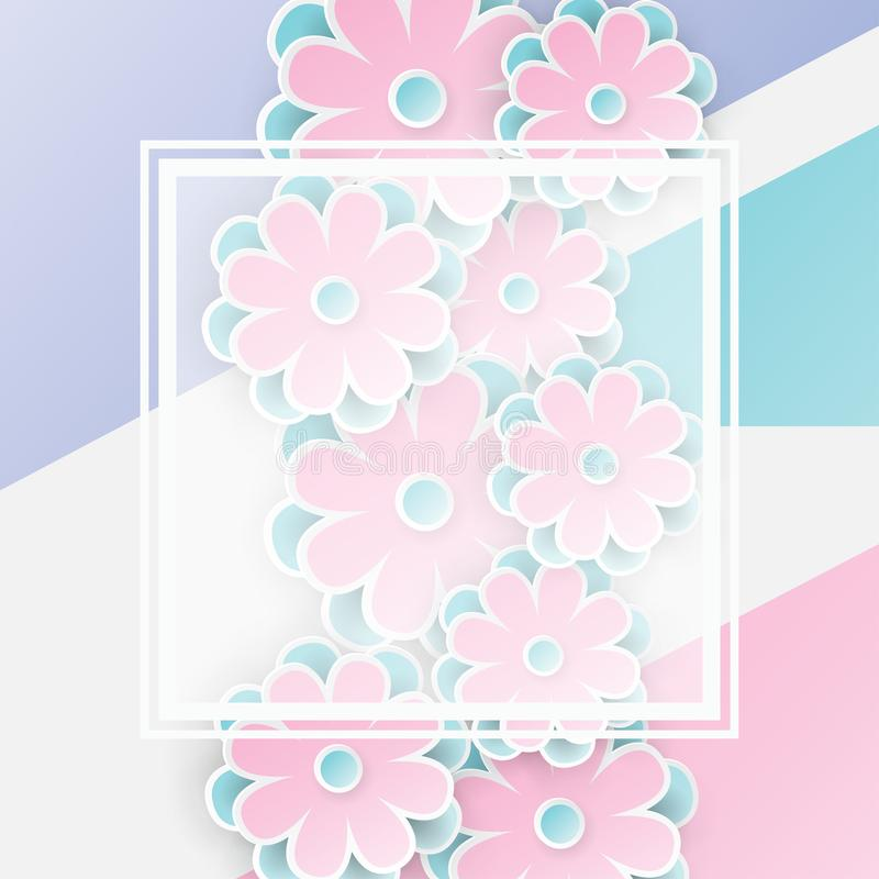 Elegant floral background with 3d paper flowers stock vector download elegant floral background with 3d paper flowers stock vector illustration of origami flowers mightylinksfo