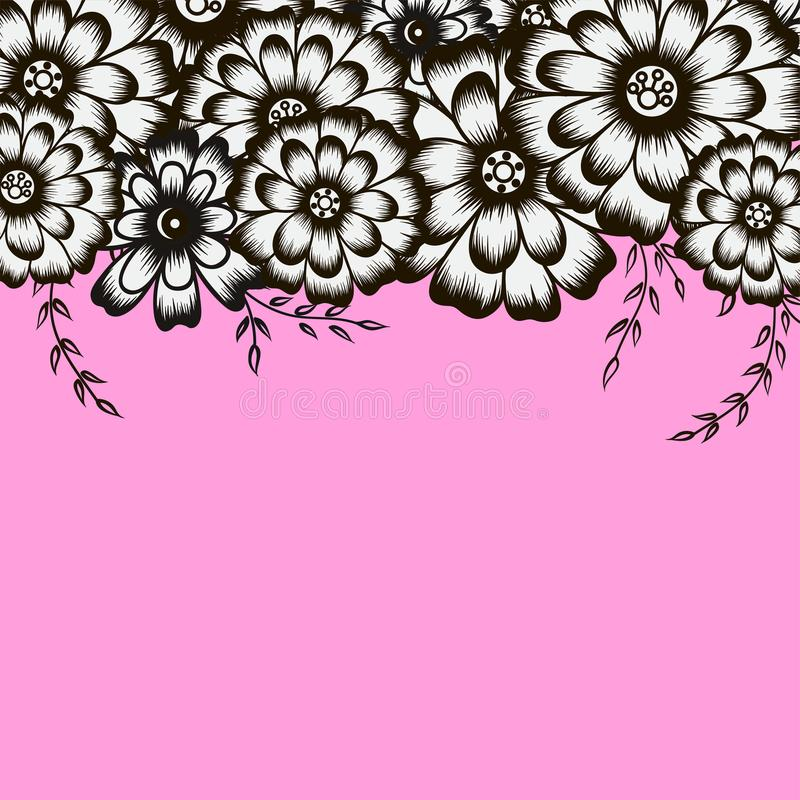 Elegant floral background for your invitation card stock photo